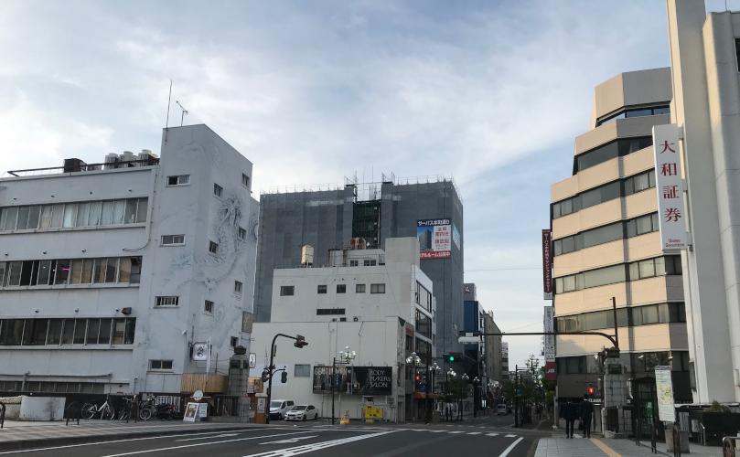 和歌山県の県庁所在地である和歌山市(京橋付近)